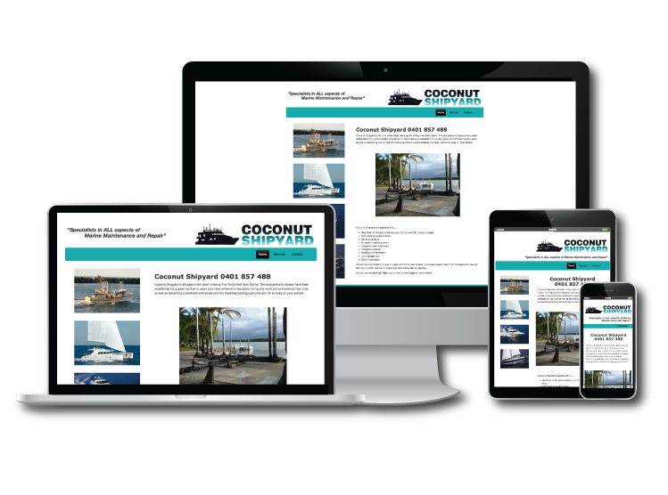 Savvy Web Creations example site of Coconuts Slipway